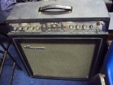 Ampeg Gemini V 1968 Black TUBE RARE GUITAR AMP image