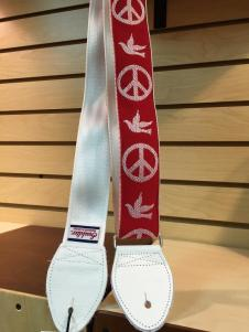 NEW Souldier Young Peace Dove Seatbelt Strap - White Strap/White Tabs/Silver Hardware - FREE SHIP image
