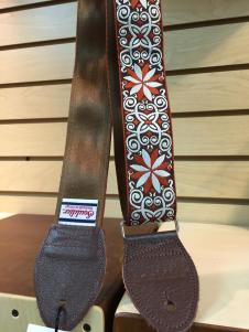 NEW Souldier Dresden Star Seatbelt Strap - Nutmeg Strap/Warm Brown Tabs/Silver Hardware - FREE SHIP image