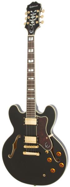 Epiphone Sheraton II Semi-hollow Electric Guitar Ebony Finish image