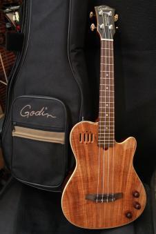 Godin Multi Uke Koa, Roland Ready Ukulele w/gig bag image