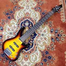 Brownsville UB600 6-String Bass  Sunburst - Price Drop image