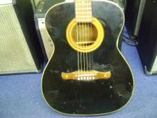 Harmony Sovereign 1971 Black Acoustic Guitar USA image