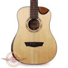 Washburn WCDM15SK Comfort Series 3/4 Size Dreadnought Semi Cutaway Acoustic Guitar with Gigbag image