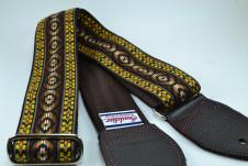 NEW! Souldier Guitar Straps - Bohemian Brown - Brown Seatbelt - Leather Ends image