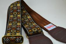 NEW! Souldier Guitar Straps - Woodstock Brown - Brown Seatbelt - Leather Ends image