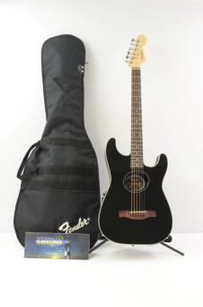Fender Standard Stratacoustic Acoustic-Electric Guitar - Black  w/ Gig Bag image