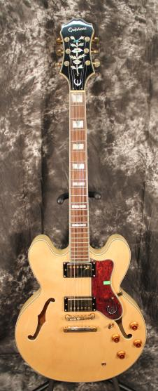 2012 Epiphone Sheraton II Natural Electric Hollowbody Archtop Guitar image