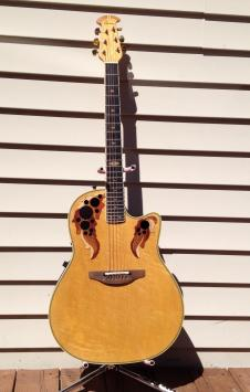 Ovation 199S-7 1990 Collector's Series Acoustic Electric 1990 Amber Birdseye image