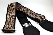 NEW! Souldier Guitar Straps - Haida Grey - Black Seatbelt - Leather Ends image