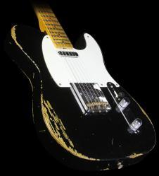 Fender Custom Shop Time Machine 1952 Telecaster Relic Electric Guitar Black image