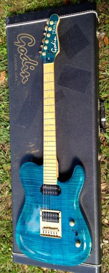 Godin artisan tc teams blue flame top electric guitar made in the USA/Canada image