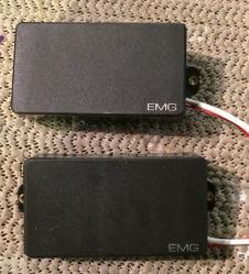 EMG Active Humbucking Pickup Set, 81 & 60, Black, No Pots image