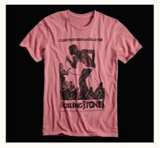 Lucky Brand Vintage Mick Jagger T-Shirt 2015 Rose - BRAND NEW Men's Medium image