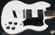 Guild S-100 Polara Electric Guitar w/ HSC, White, NEW! #29739 image