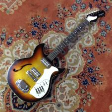 Harmony Rebel H682 Sunburst Hollow Body Guitar - Dearmond Gold Foil Pickups image
