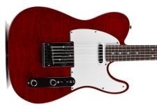 Fender Custom Shop Custom Deluxe Tele  2013 Crimson Red Transparent image