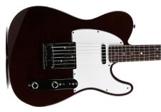 Fender  Custom Shop Custom Deluxe Tele 2013 Bing Cherry Transparent image