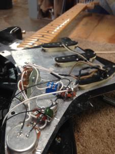 Fender Stratocaster Pickup Set 1961 Black bobbin image