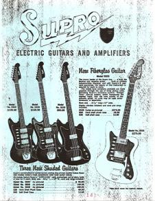 Supro Electric Guitars and Amplifiers 1965 Catalogue REPRINT image