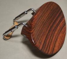 Evergreen Workshop Flat Flesch 4/4 Violin Chinrest - Rosewood with Standard Bracket image