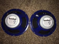 2 Scumback M75's 8 ohm 65 watt blue frame, excellent image