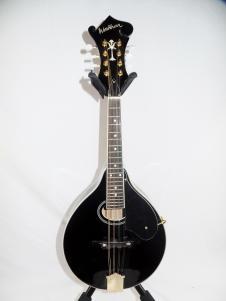 Washburn M1SDBL Tear Drop A Style Mandolin in Gloss Black #0006 image