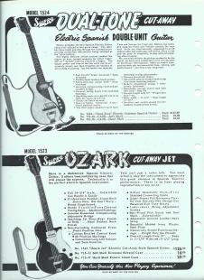 1953 Supro Dual Tone Guitar Grossman Catalog Ad Page image