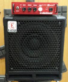 TC Electronic bass head with Eden bass cabinet image