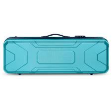 Crossrock CRA400VFTU2  4/4 Violin Oblong Hardshell Case in Turquoise image