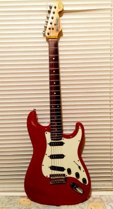 Fender Squier Bullet Series Strat Early 90's Red image
