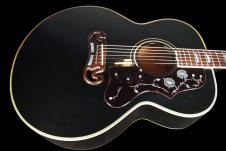 1991 Gibson SJ-200 Standard Previously Owned by Grammy Winner Bill Miller Black image