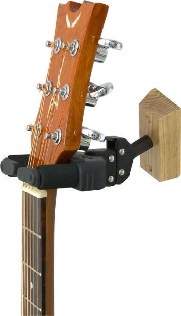 hercules wood wall mount guitar hanger image. Black Bedroom Furniture Sets. Home Design Ideas