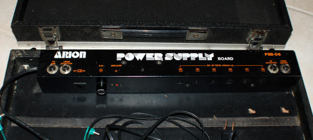 Vintage Arion Psb 06 Pedal Board W Power Supply Reverb
