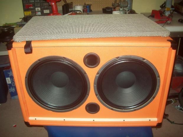 orange 2x12 guitar amp speaker cab cabinet wheat grill eminence cv75 39 s reverb. Black Bedroom Furniture Sets. Home Design Ideas