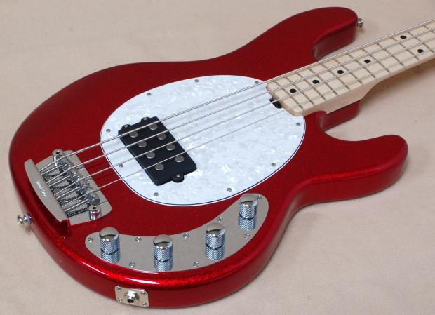 ernie ball musicman stingray 4 pdn in cardinal red sparkle electric bass reverb. Black Bedroom Furniture Sets. Home Design Ideas