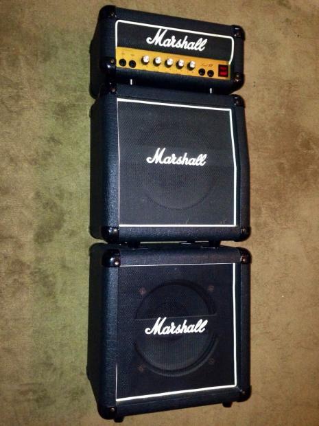 vintage 1980 39 s marshall lead 12 mini full stack guitar amp 12 watts reverb. Black Bedroom Furniture Sets. Home Design Ideas