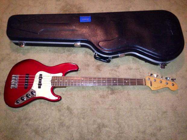 1997 fender american deluxe jazz bass electric 5 v five string guitar made in usa active. Black Bedroom Furniture Sets. Home Design Ideas
