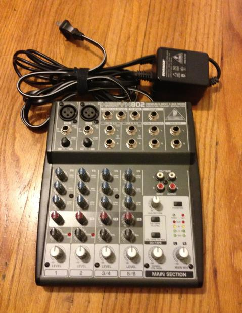 behringer xenyx 802 mixer w box manual power supply mint barely used reverb. Black Bedroom Furniture Sets. Home Design Ideas