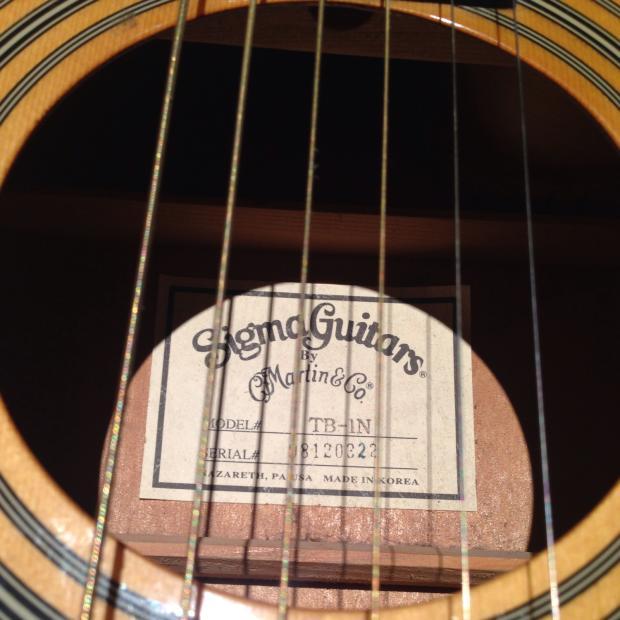 Finish Line Auto >> Sigma guitars by martin Tb-1n Natural thin body cutaway MIK Korean Made | Reverb