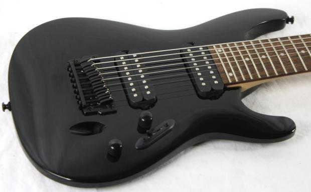 ibanez s 8 s8 mahogany body 8 string electric guitar super thin neck 2012 black reverb. Black Bedroom Furniture Sets. Home Design Ideas