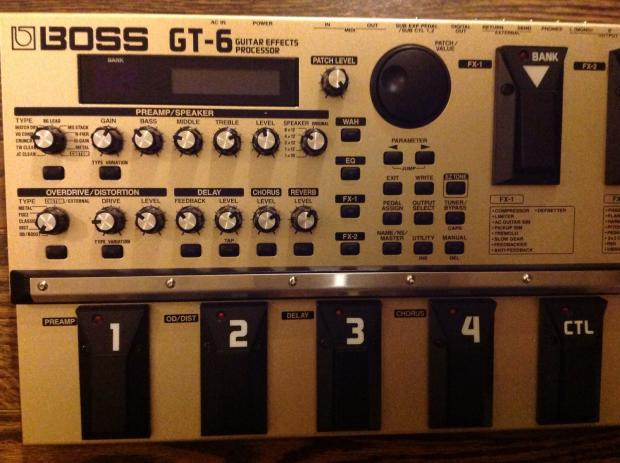 boss gt 6 guitar effects processor gold reverb. Black Bedroom Furniture Sets. Home Design Ideas