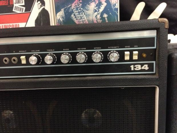 Michaels Auto Sales >> Acoustic 134 Vintage Electric Guitar Amp 4x10 Very Good Shape | Reverb
