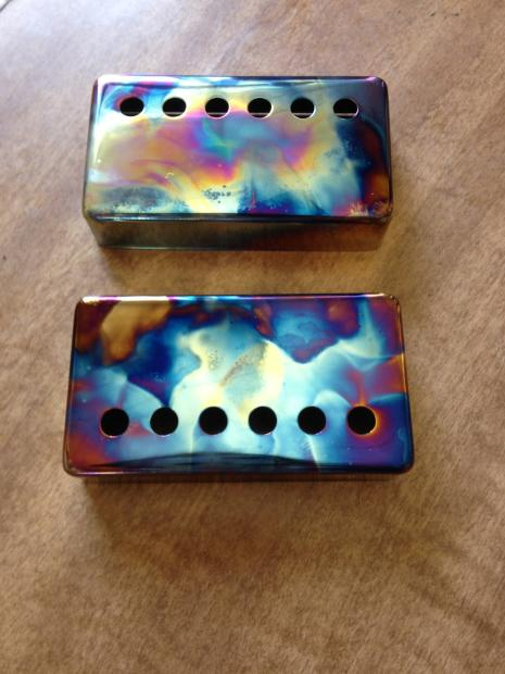 burnt chrome humbucker pickup cover set from seymour duncan custom shop reverb. Black Bedroom Furniture Sets. Home Design Ideas