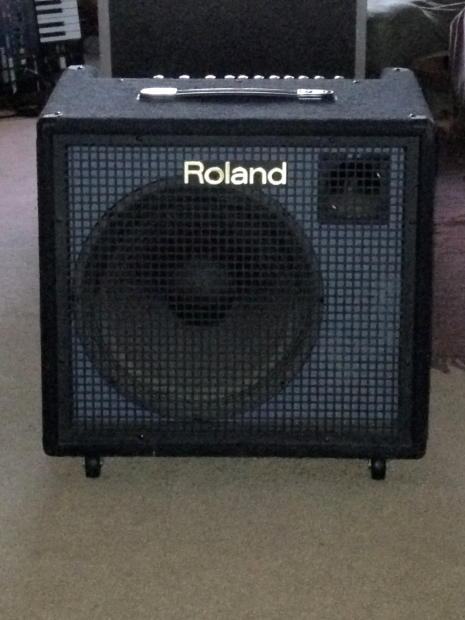 roland kc 500 keyboard amp w ata flight case perfect for synth juno nord moog tr808 arp b3. Black Bedroom Furniture Sets. Home Design Ideas