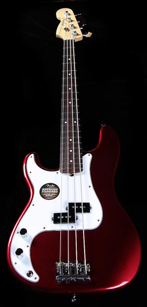 fender american standard precision bass lefty mystic red reverb. Black Bedroom Furniture Sets. Home Design Ideas