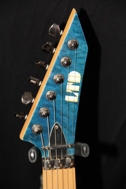 -ESP LTD MH 103QM- Blue quilt top guitar with gigbag   Reverb