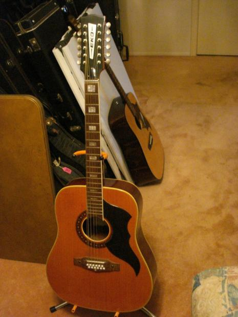 eko ranger 12 string vintage acoustic guitar made in italy with chip case reverb. Black Bedroom Furniture Sets. Home Design Ideas