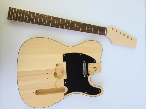 do it yourself diy electric guitar kit build your own tele telecaster style reverb. Black Bedroom Furniture Sets. Home Design Ideas