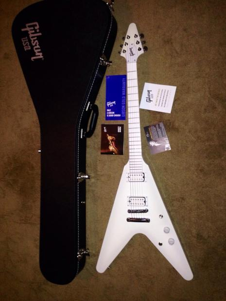 2013 gibson snow falcon flying v electric out of production mint made in usa case reverb. Black Bedroom Furniture Sets. Home Design Ideas